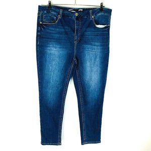 Seven7 Womans Skinny Jeans Sz 22W Blue Stretch